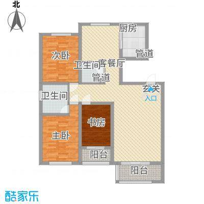 盛世・帝景湾125.57㎡M户型