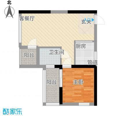 新际首座4.78㎡海岸国际户型1室1厅