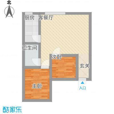 泰伦特酒店商务公寓5.10㎡C户型2室1厅1卫