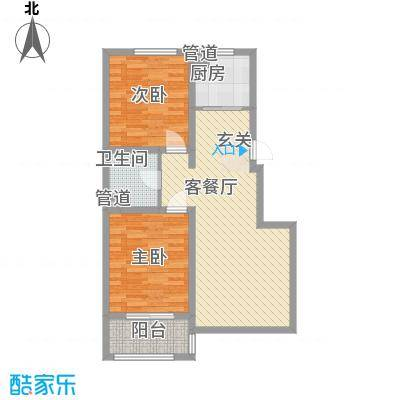 盛世・帝景湾86.43㎡L户型