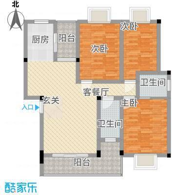金汇广场112.00㎡户型3室