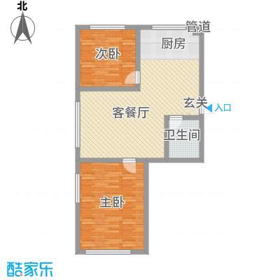 汇景星城2号楼A1户型2室2厅1卫