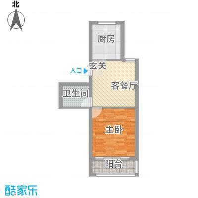 福里社区55.00㎡整体开发多层户型1室1厅1卫1厨