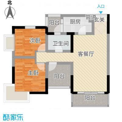 建工锦绣华城86.00㎡户型3室