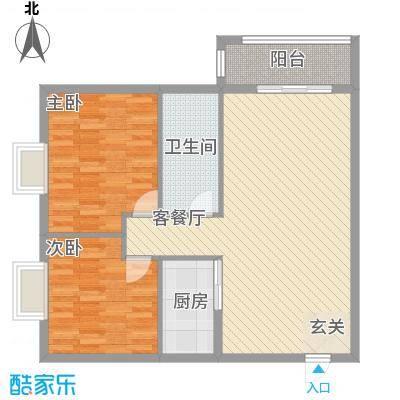 汉华花园户型2室2厅
