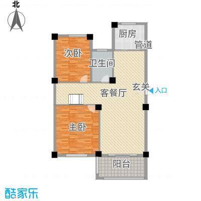 君悦龙庭168.00㎡C跃层一层户型2室2厅1卫1厨