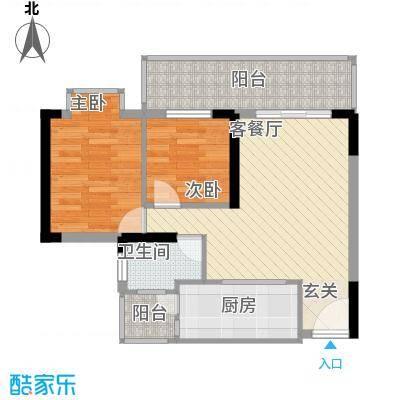钱江花园75.00㎡户型2室