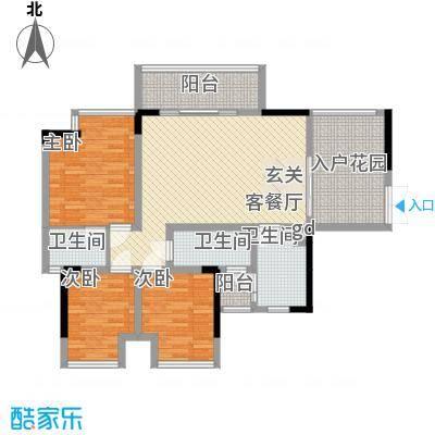 双城国际111.85㎡D1户型3室2厅2卫