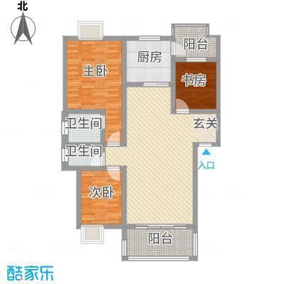 怡景苑118.00㎡户型3室