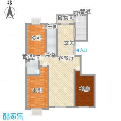 东方文苑167.22㎡F户型3室2厅2卫1厨