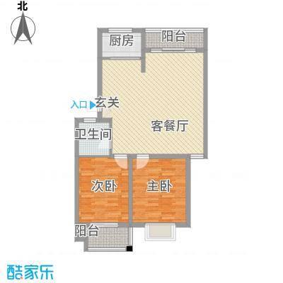 稼悦小区园中园4户型2室1厅1卫1厨