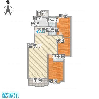 樱花苑151.00㎡户型3室