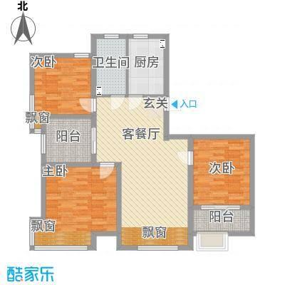 宝文国际花园户型3室
