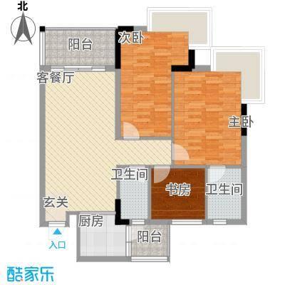 名雅豪庭11.71㎡户型3室2厅2卫1厨