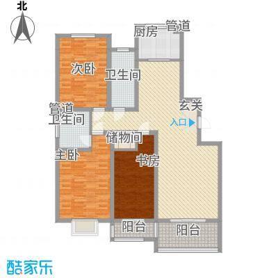 港澳花园148.00㎡C户型3室2厅2卫