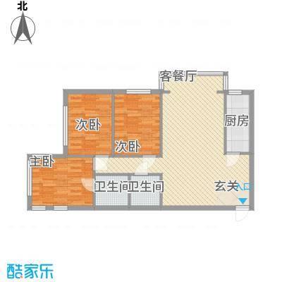 北苑家园清友园户型3室