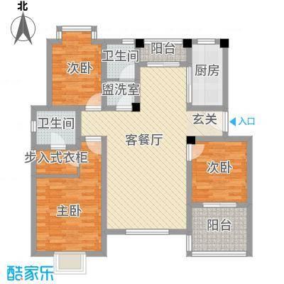 望湖名门123.00㎡C户型3室2厅2卫