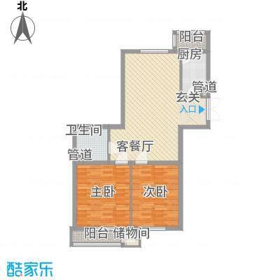 三江紫香园3.60㎡O9360-221户型2室2厅1卫