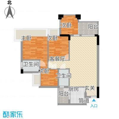 天怡广场6.00㎡户型3室