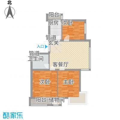 三江紫香园12.83㎡G10283-321户型3室2厅1卫