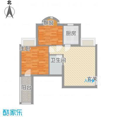 汇豪名邸户型2室