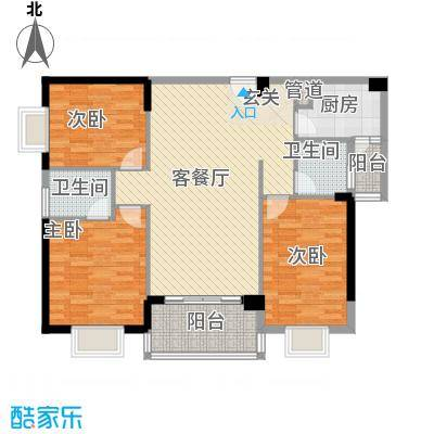 江南豪苑115.73㎡F栋05单位户型3室2厅