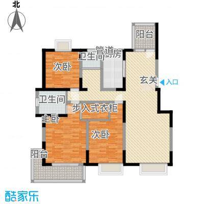 汇豪名邸136.00㎡户型3室