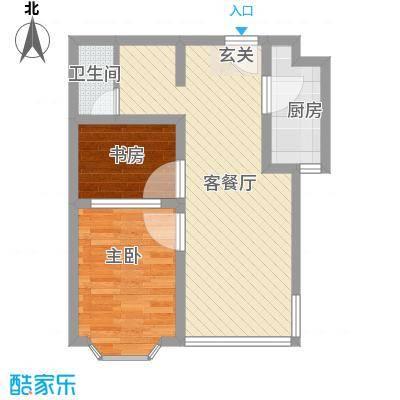 舜清苑63.00㎡户型2室1厅1卫