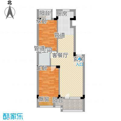 万科兰乔公寓82.63㎡C户型2室2厅1卫