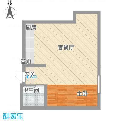 谷方33.00㎡户型1室