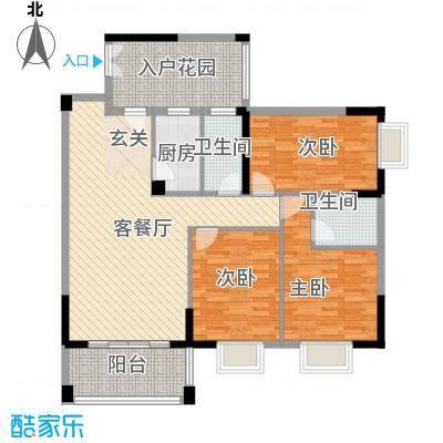 江南豪苑122.53㎡GH栋05、06单位户型3室2厅