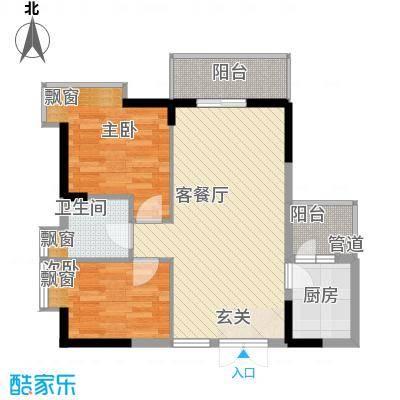 翠堤湾77.80㎡B2、B3、C2、C3标准层户型2室2厅1卫