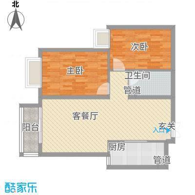金汇大厦户型2室1厅1卫1厨