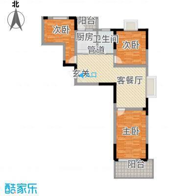 庐阳佳苑户型3室2厅1卫1厨