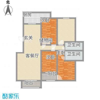 昌明伴山苑184.52㎡4#户型3室2厅2卫