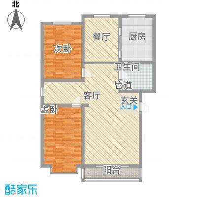 望兴园二期136.46㎡户型2室2厅1卫1厨