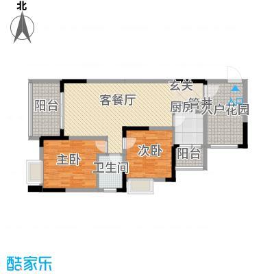 融科海阔天空二期二期13、14、15号楼C2(标准层)户型