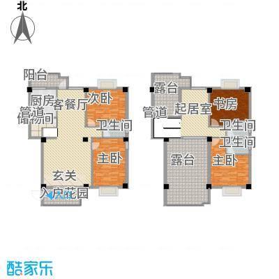 古庄新城15.00㎡12#楼11-12层01、02单元户型4室3厅3卫1厨