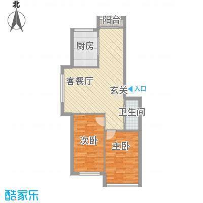 友兰园丁园户型2室