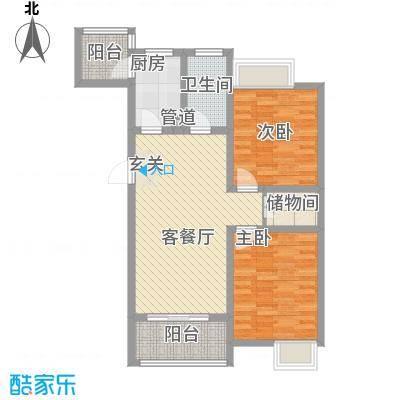 天诚金白领公寓6.70㎡C户型2室2厅1卫