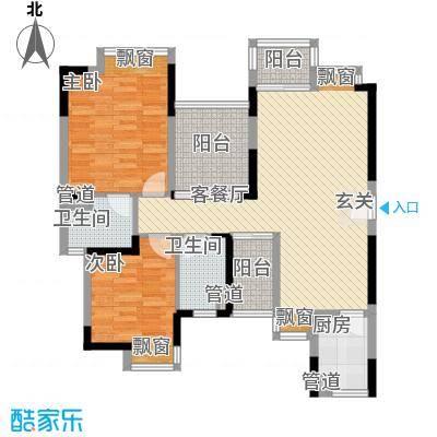 东海豪园户型2室