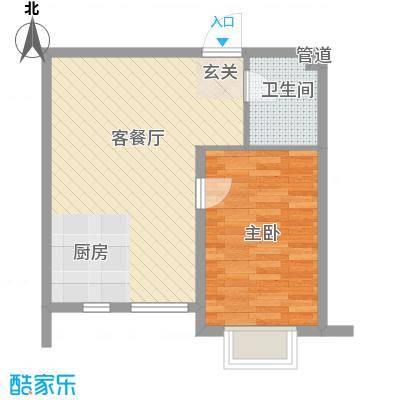 青苹果友谊城6.00㎡户型1室