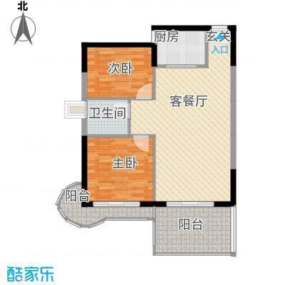 中天彩虹城87.00㎡中建彩虹城户型2室