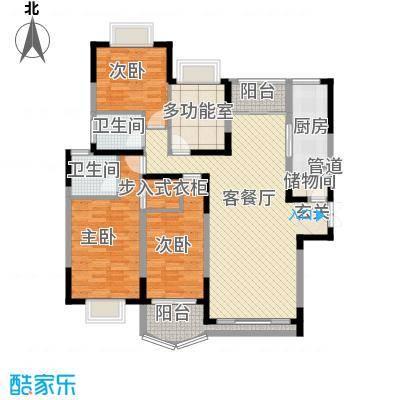 万科运河东1号银华院155.00㎡户型4室