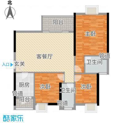 万科运河东1号银华院123.00㎡户型3室