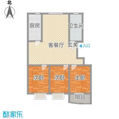 美奥依居137.66㎡二期F户型3室2厅1卫1厨