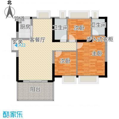 中天彩虹城122.51㎡G4户型3室2厅2卫