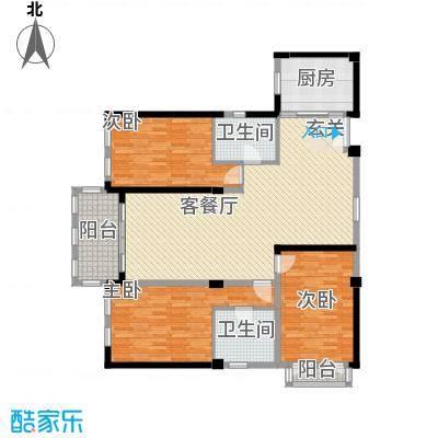 现代家园7户型3室2厅2卫1厨