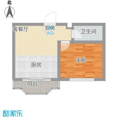 台北华郡5.31㎡E户型1室1厅1卫