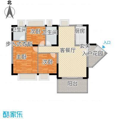 中天彩虹城121.54㎡G5户型3室2厅2卫